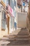 Gatalivstid Le mer panier Marseilles Arkivfoto