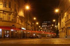 Gataljus på natten Royaltyfria Foton