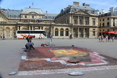 Gatamålare i paris Royaltyfri Foto