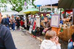 Gatamålare - Paris Royaltyfri Fotografi