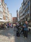 Gatamariackagdañsk Polen Europa arkivbilder