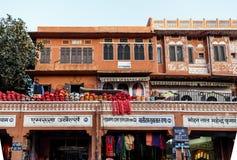 Gatamarknad i Jaipur Arkivfoto