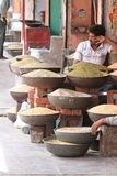 Gatamarknad i Jaipur Indien Arkivbild