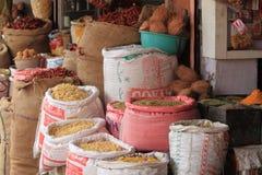 Gatamarknad i Jaipur Indien Arkivfoton