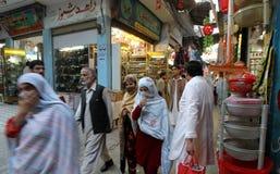 Gatamarknad i Pakistan Royaltyfria Bilder