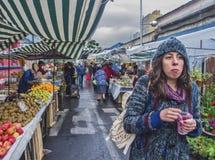 Gatamarknad i Santiago Fotografering för Bildbyråer