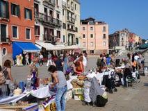 Gatamarknad, Venedig, Italien Arkivbilder