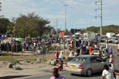 Gatamarknaden av staden av Dar Es Salaam i Tanzania Arkivfoton