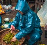 Gatamarknaden i ton, Vietnam Royaltyfria Bilder