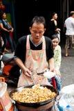Gatamat i Bangkok, Thailand Royaltyfri Foto