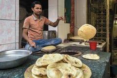 Gatamat i Delhi, Indien Arkivbilder