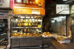 Gatamat i Mong Kok i Hong Kong Royaltyfri Foto