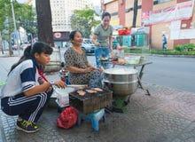 Gatamat i Vietnam Royaltyfri Fotografi