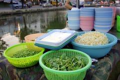 Gatamat på Thailand Royaltyfria Bilder