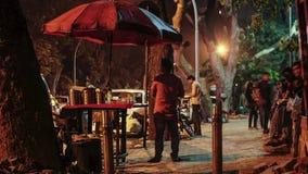 GatamatStall i Mumbai under Rushhour lager videofilmer