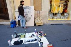 Gatamålare Fotografering för Bildbyråer