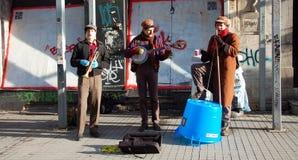 Gatamusikband i Istanbul Royaltyfria Foton