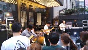 Gatamusikband i Seoul royaltyfria foton