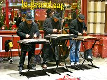 Gatamusiker, Bryssel royaltyfria bilder