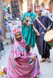 Gatamusiker i Fez, Marocko Royaltyfri Fotografi