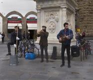 Gatamusiker i Florence, Italien Royaltyfri Fotografi