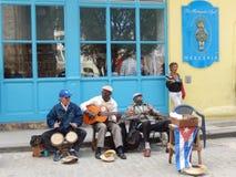 GATAMUSIKER I HAVANNACIGARREN, KUBA Arkivbild