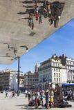 Gatamusiker i Marseille Arkivbild