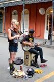 Gatamusiker i New Orleans fotografering för bildbyråer