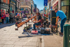 Gatamusiker Irland Dublin Royaltyfri Bild