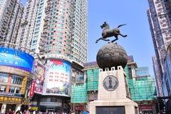 Gatan för shopping för den Shangxia jiuen är den fot- strögen i Guangzhou Fotografering för Bildbyråer
