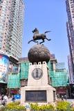 Gatan för shopping för den Shangxia jiuen är den fot- strögen i Guangzhou Royaltyfri Bild