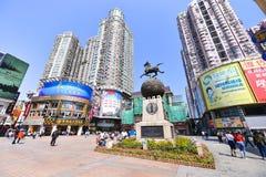 Gatan för shopping för den Shangxia jiuen är den fot- strögen i Guangzhou Royaltyfri Fotografi