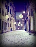 gatan i centrum kallade CONTRA DEL MONTE av Vicenza City i den Arkivfoton