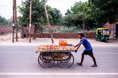 Gatan i Indien Arkivfoto