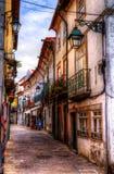 Gatan i Viana gör Casterlo, Portugal royaltyfria foton