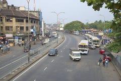 Gatan nära järnvägsstationen colombo lankasri Royaltyfria Foton