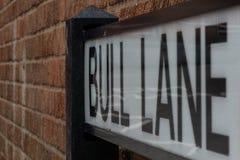 Gatan undertecknar i Bristol specificerade skottet med stora bokstäver royaltyfria bilder
