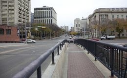 109. gataplanskild korsning i Edmonton Royaltyfri Fotografi