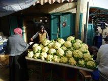 Gataplats av Betlehem, Palestina Israel fotografering för bildbyråer