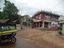 Gataplats av Coron, Palawan, Filippinerna royaltyfri fotografi