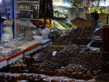 Gataplats av Essaouira medina, Marocko Fotografering för Bildbyråer