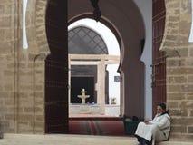 Gataplats av Essaouira medina, Marocko Royaltyfri Foto