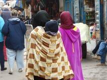 Gataplats av Essaouira medina, Marocko Royaltyfria Bilder