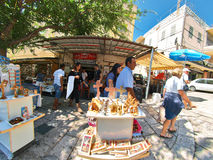 Gataplats av staden av Nazareth Arkivfoto