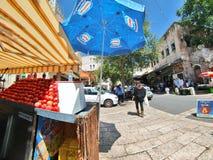 Gataplats av staden av Nazareth Royaltyfri Fotografi