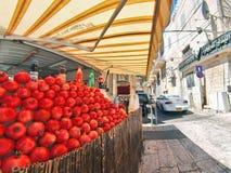 Gataplats av staden av Nazareth Arkivbild
