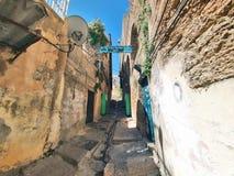 Gataplats av staden av Nazareth Royaltyfria Foton