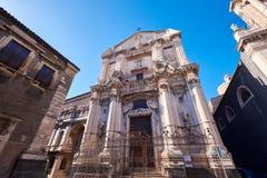Gataplats Catania, Sicilien, italiensk ö Arkivfoto