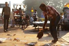 Gataplats från gammala Delhi, Indien Royaltyfri Foto
