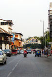 Gataplats, gammal stad, Chiang Mai, Thailand Royaltyfria Foton